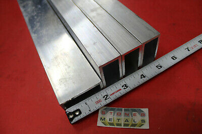 "4 Pieces 1""x 2""x 1/8"" Wall ALUMINUM RECTANGLE TUBE 52"" Long 1.0""x 2.0 6063 T52"