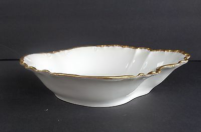Stately, H & C  France, Stunning Freeform Serving Bowl, Gold Trim