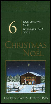 Canada Stamp Booklet - #BK234 - Christmas Nativity,  (2000) 6 x 55¢  #1874a MNH