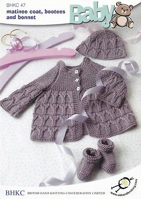 VR49 Bonnet and Booties Pattern DK Baby Swing Matinee Coat