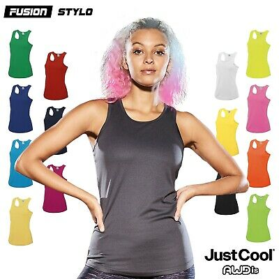 AWDis LADIES GIRLIE COOL VEST, BREATHABLE FOR SPORTS, WORKOUTS, RUNNING,XS-XL