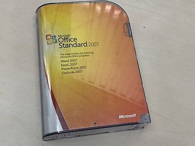 Microsoft Office 2007 Standard Word Excel Outlook Powerpoint RETAIL BUSINESS