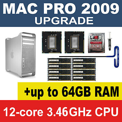 12 Core X5690 3.46Hz CPU + 16GB 32gb 64GB 1333MHz memory 2009 Apple Mac Pro 5.1