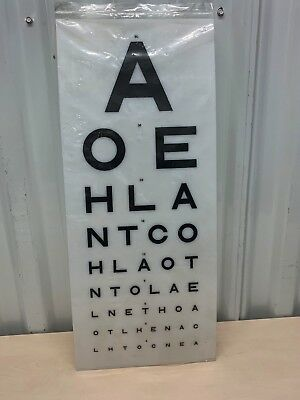Eye Test Chart Medical Opticians Display (Replacement Light Box Charts Covers)