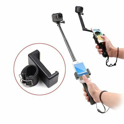 Self Selfie Lock Clip Stick Handheld Adjustable Monopod Phone Holder Adapter