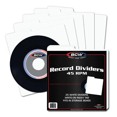 25 A TO Z Record Dividers Index Tab for 12 Inch Album Storage Boxes