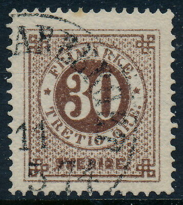 Sweden Scott 25 or Facit 25d, 30ö reddish brown Ringtype p.14, VF U, shade