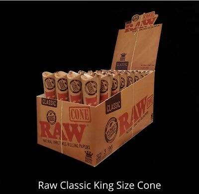 Raw Cones 32 x 3 Pack Raw Classic Cone King Size Slim Rolling Papers Tobacco