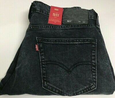 7db2ba7668d NWT *CLOSE OUT* Levis 511 Slim Fit Black and Gray Wash Jeans 1 ...