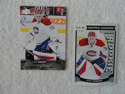 Mike Condon 2015/16 Upper Deck Young Guns & OPC Marquee Rookie Cards Montreal