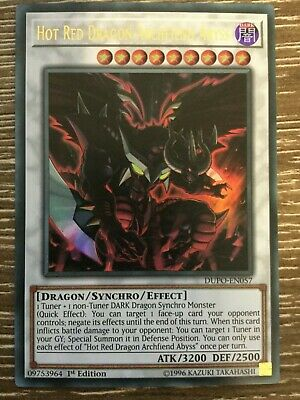 Yugioh - Hot Red Dragon Archfiend Abyss - DUPO-EN057 - Ultra Rare - 1st Ed