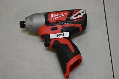 "Milwaukee 2462-20 12V M12 1/4"" Hex Impact Driver Tool Only"