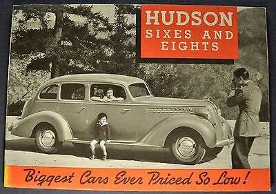 1936 Hudson Catalog Sales Brochure Six 6 Eight 8 Excellent Original 36