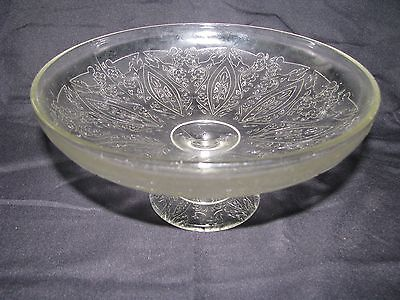 Vintage Depression Glass Clear Footed Pedestal Candy Dish Compote