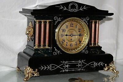 ANTIQUE SETH THOMAS SHELF MANTLE CLOCK-Totally!!-Restored- c/1906