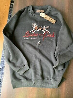 6b209798 90s Vintage Rocky Mountain Wolf Colorado Crewneck Sweatshirt NWT Medium  Sewn M