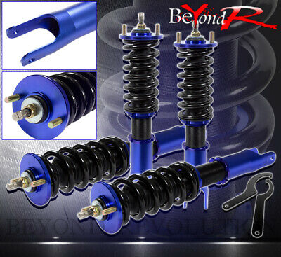 1992-2001 Honda Prelude Jdm Full Adjustable Lowering Damper Spring Coilover Blue