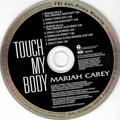 Mariah Carey - Touch My Body U.s. Promo Cd-Single 2008 8 Tracks Rare Collectible