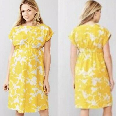 fb0e9892538fb Gap Maternity Dress Floral Yellow Pregnancy Women's Size Xs