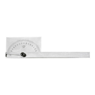 Stainless Steel 180 Degree Square Head Depth Gage Protractor