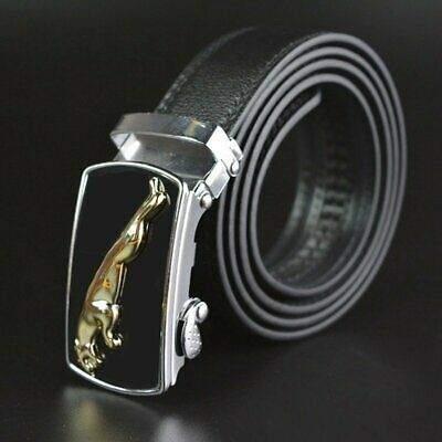 Automatic Genuine Leather Belt Fashion Mens Buckle Ratchet Waistband Business BP