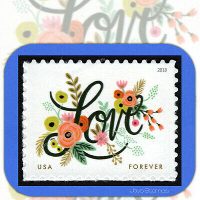 2018  LOVE FLOURISHES  Individual  USPS  Forever®  Stamp  MINT  # 5255