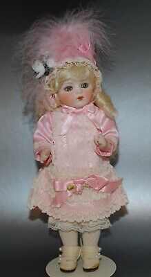"Antique French Bru Jne Doll 8.5"" Reproduction Beautiful Pink Outfit"