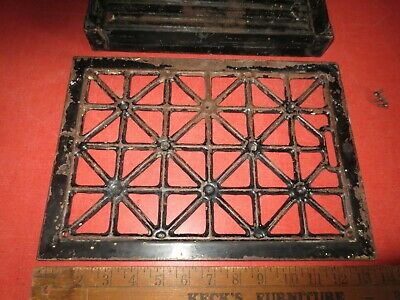 Antique Columbian Hardware Co Heat Grate Floor Register Vent Grecian Lattice Vtg