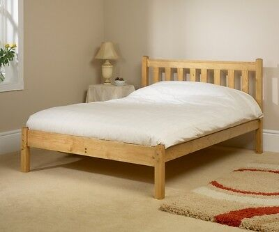 Solid Antique Pine 3Ft Single Shaker Bed Frame Mattress Extra