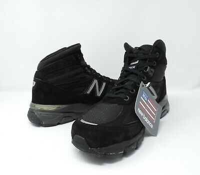 save off be509 9960e NEW BALANCE MEN'S 990v4 Mid Black Trail Running Shoe Size 10.5 NWB