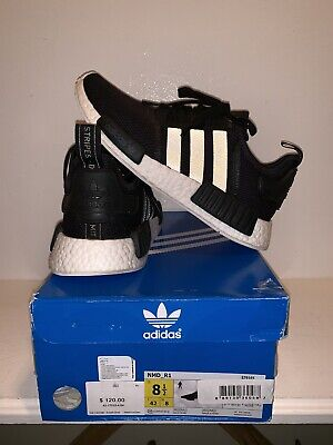 01c702db5 Adidas NMD R1 Runner Core Black 3M Reflective Boost Mens Size 8.5 Mesh  s79165