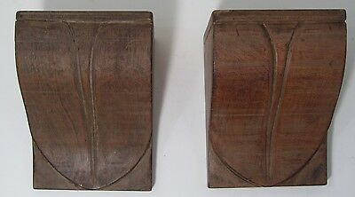 Vintage Architecture Artisan Hand Carved Wood Corbels Brackets California Art