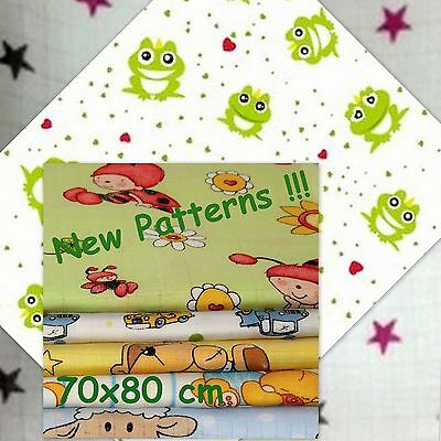 Large XXL Soft Printed Muslin Squares/Reusable 70x80 100% COTTON made in EU