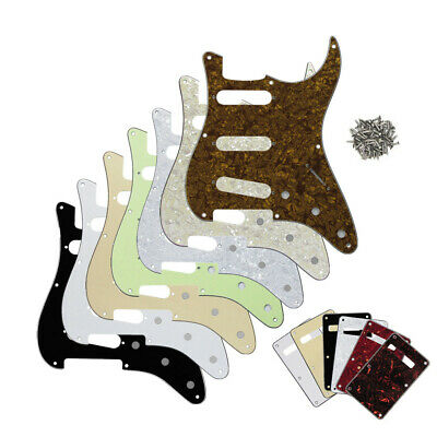 ST Guitar SSS Pickguard Scratch Plate 8Holes Back Tremolo Cover for Strat Guitar