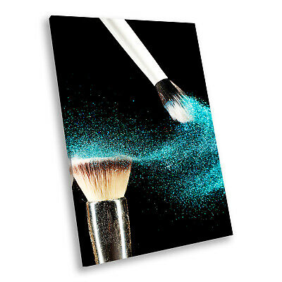 E097 Colourful Makeup Brush Fashion Modern Canvas Wall Art Large Picture Prints