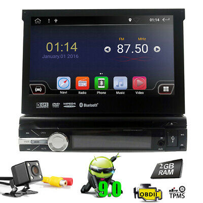 Rear Camera+Single 1 din Android 9.0 Car Stereo Radio Central Multimidia Player~
