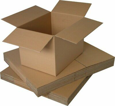 Cardboard Postage Postal Packaging Box Royal Mail Post Small Parcel 4 x 4 x 4""