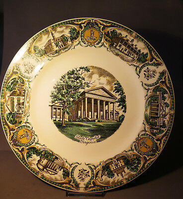 6914:Teller, STATE CAPITOL , Virginia,The Mother of Presidents, Service Plate.
