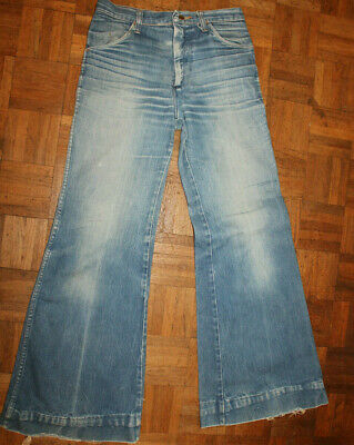 f060b3b1 WRANGLER BELL BOTTOMS flared jeans 1960s 70s mens size 30W 32L hippie  vintage