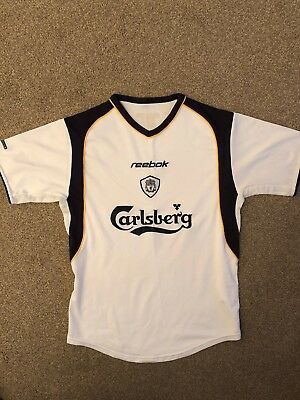 new style 34a27 16451 LIVERPOOL FC RETRO Reebok 3rd Kit Shirt 2001/02 Small Fit