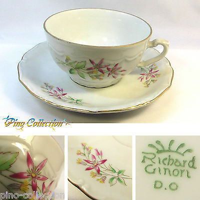 TAZZINA TAZZA ANTICA PORCELLANA Richard Ginori + PIATTINO Antique porcelain cup