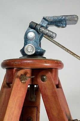 Photographer old wood Tripod with head and new case