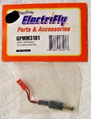 2 Great Planes GPMM3107 Female JST 2-Pin Red Connectors