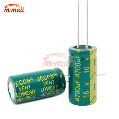 5/10/20PCS 16V 4700uF High Frequency Electrolytic Radial Capacitors 13x26mm 105C