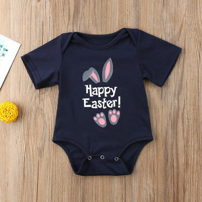 08d34bdc913d US Bunny Newborn Easter Baby Little Girl Boy Romper Toddler Clothes 0-18  Months
