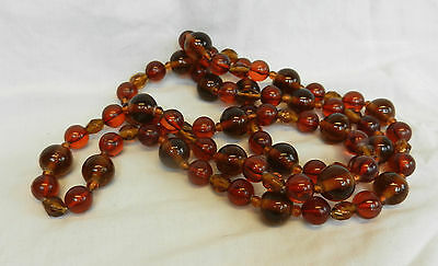 Antique Art Deco Opera Length Baltic Amber Necklace - Stunning Item c 1920s