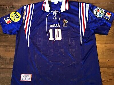 f39266490 1996 France Zidane Home Football Shirt Patches XXL 2XL Maillot Maglia  Camiseta