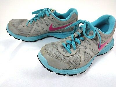 aa9ba21680 Nike Youth Girls Running Shoes Revolution 2 555090 Blue Gray Size 4.5Y