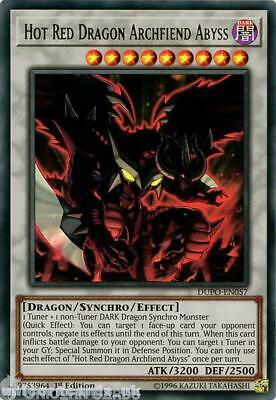 DUPO-EN057 Hot Red Dragon Archfiend Abyss Ultra Rare 1st Edition Mint YuGiOh Car
