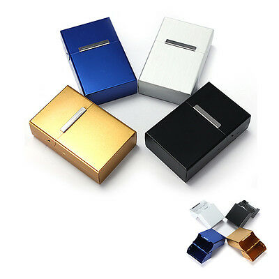 Magnetic King Size Metal Aluminum Pocket Cigarette Tobacco Box Case Holder BEB